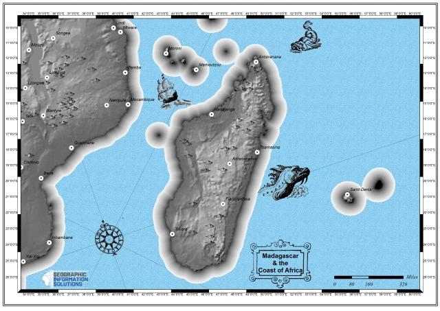 GIS Classic Cartographic Map of Madagascar